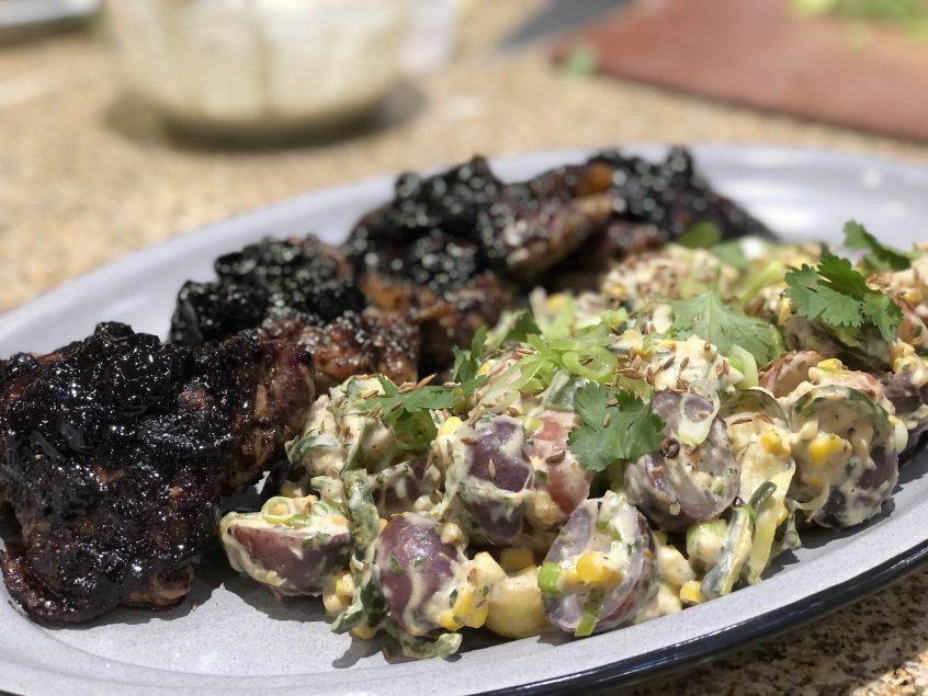 Photo of Potato Salad and Chicken